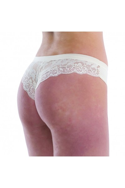 Slip donna mod. Brasiliana in cotone modal con pizzo dietro