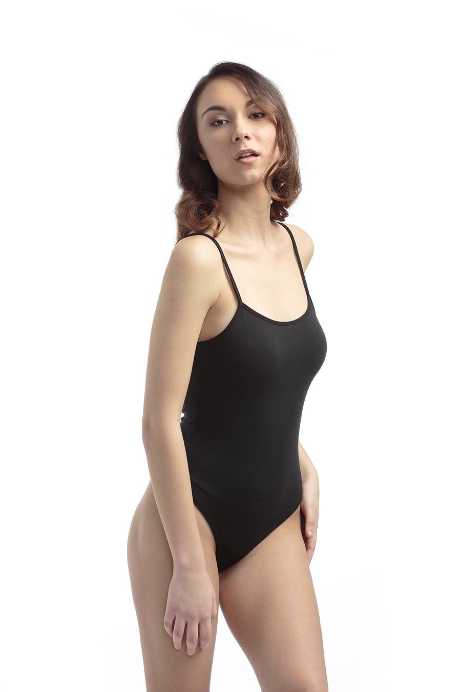 ART. B70 Body spalla stretta, retro brasiliana, cotone modal, chiusura bottoni automatici