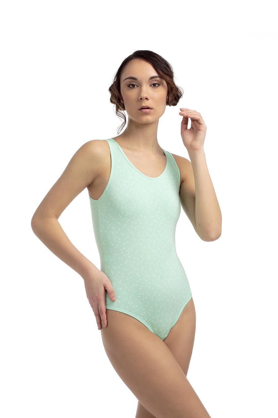 ART.B101 Body spalla larga, retro brasiliana, cotone modal, chiusura con bottoni automatici